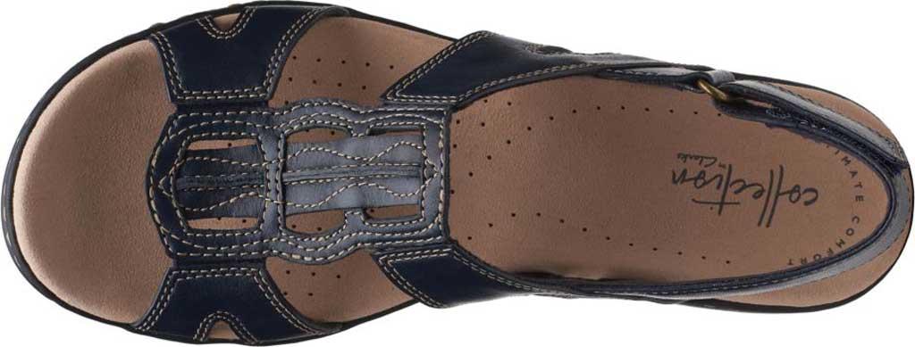 Women's Clarks Leisa Skip Slingback, Navy Full Grain Leather, large, image 5