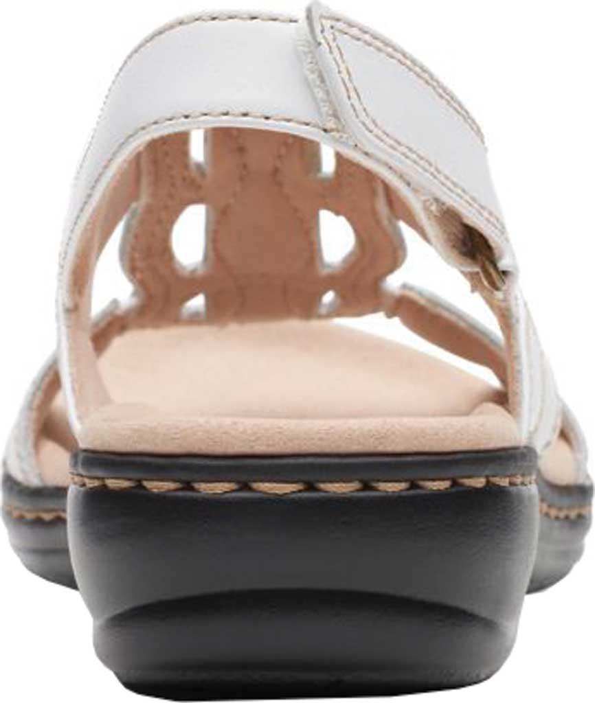 Women's Clarks Leisa Skip Slingback, White Full Grain Leather, large, image 4