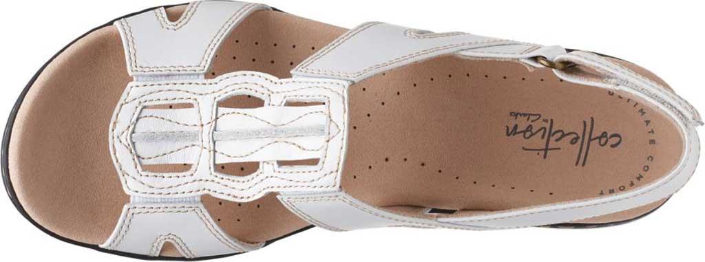 Women's Clarks Leisa Skip Slingback, White Full Grain Leather, large, image 5