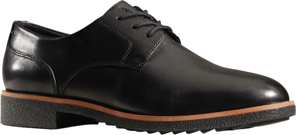 Women's Clarks Griffin Lane Sneaker, Black Leather, large, image 1