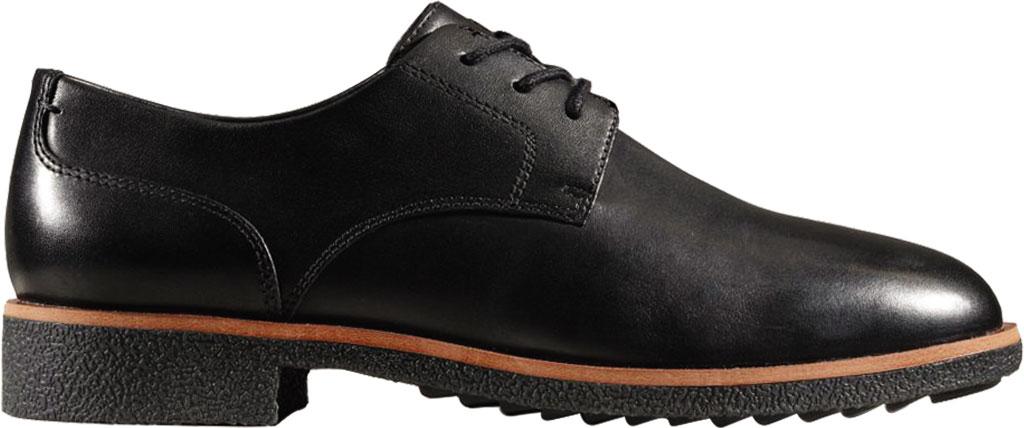 Women's Clarks Griffin Lane Sneaker, Black Leather, large, image 2