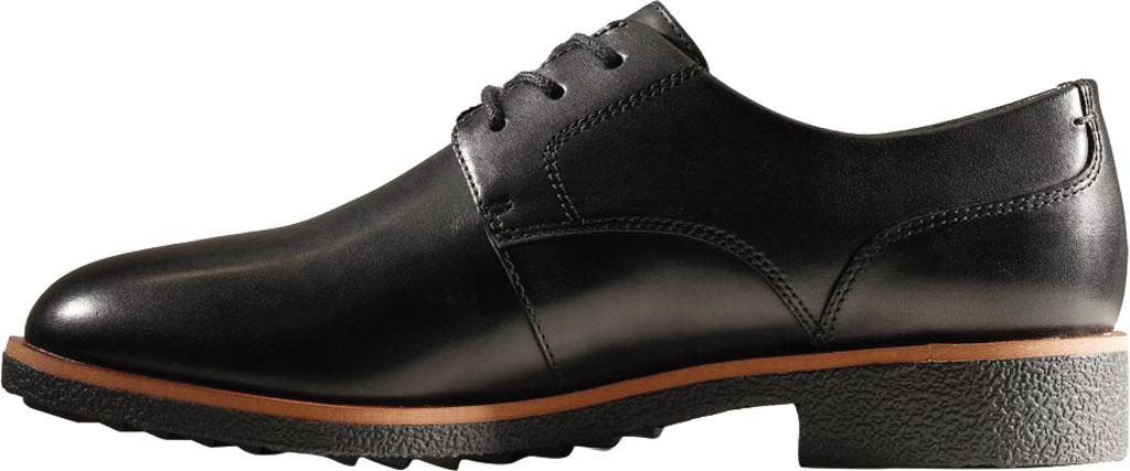 Women's Clarks Griffin Lane Sneaker, Black Leather, large, image 3