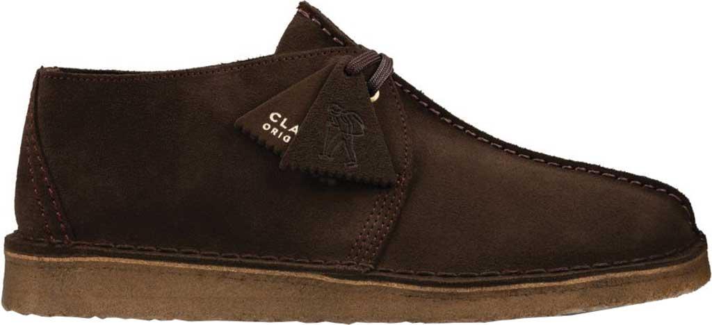 Men's Clarks Desert Trek Sneaker, Dark Brown Leather, large, image 2