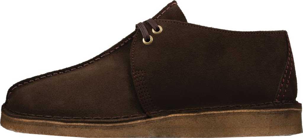 Men's Clarks Desert Trek Sneaker, Dark Brown Leather, large, image 3