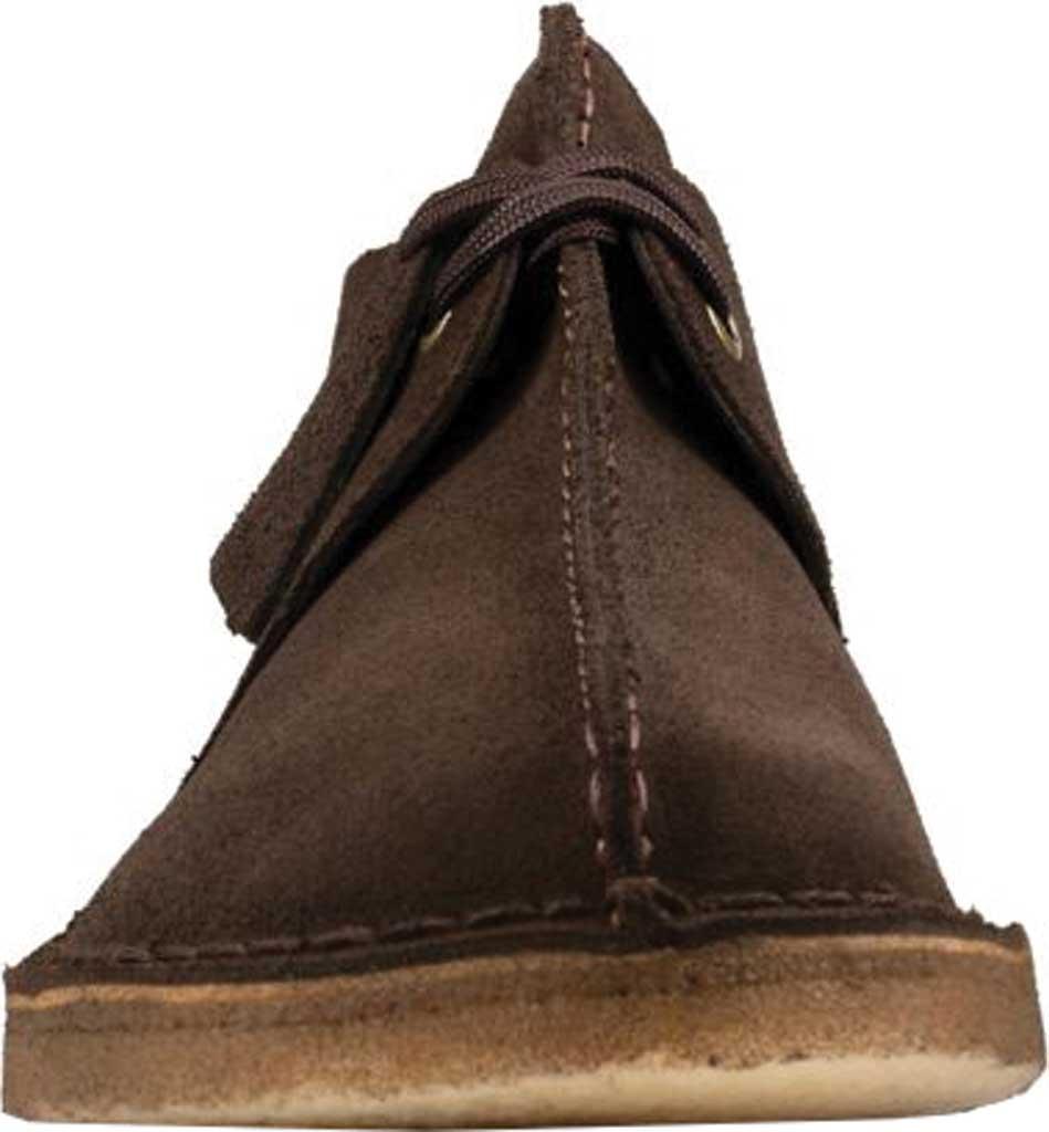 Men's Clarks Desert Trek Sneaker, Dark Brown Leather, large, image 4