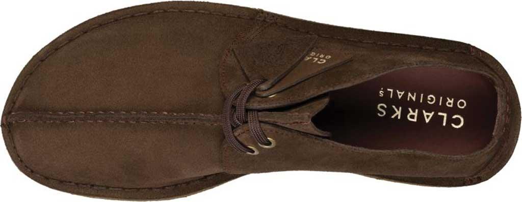 Men's Clarks Desert Trek Sneaker, Dark Brown Leather, large, image 6