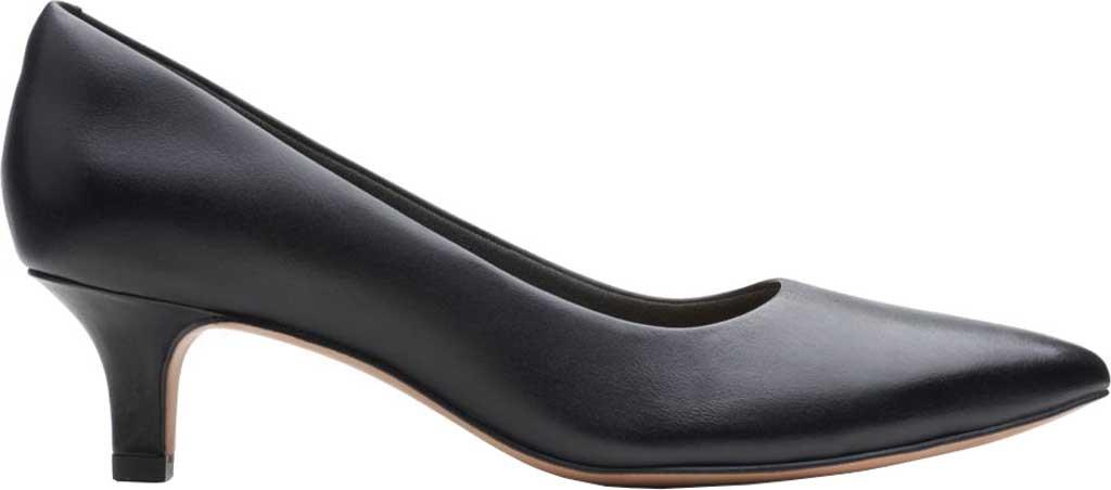 Women's Clarks Shondrah Jade Pump, Black Leather, large, image 2