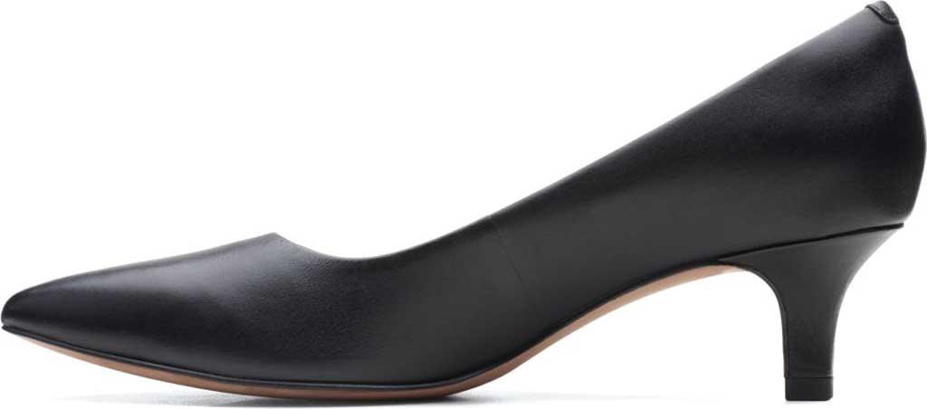 Women's Clarks Shondrah Jade Pump, Black Leather, large, image 3