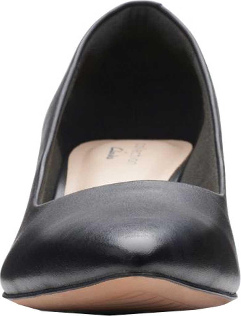 Women's Clarks Shondrah Jade Pump, Black Leather, large, image 4