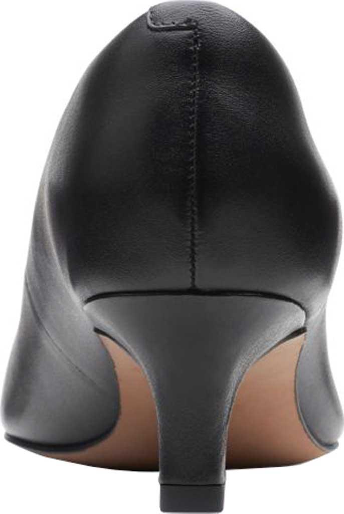 Women's Clarks Shondrah Jade Pump, Black Leather, large, image 5