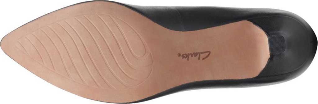 Women's Clarks Shondrah Jade Pump, Black Leather, large, image 7