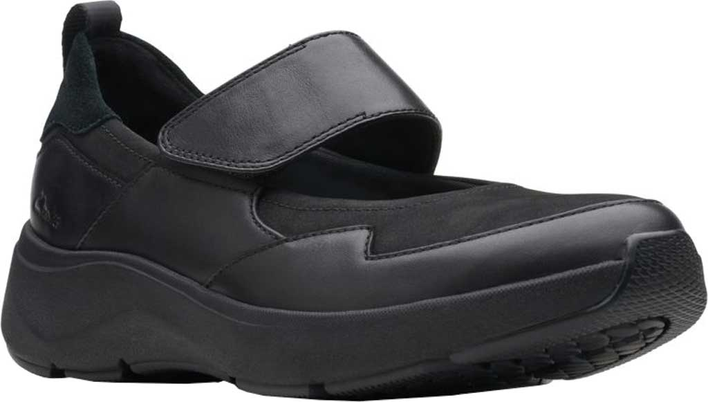 Women's Clarks Wave2.0 Glide. Mary Jane, Black Combination Nubuck/Leather, large, image 1