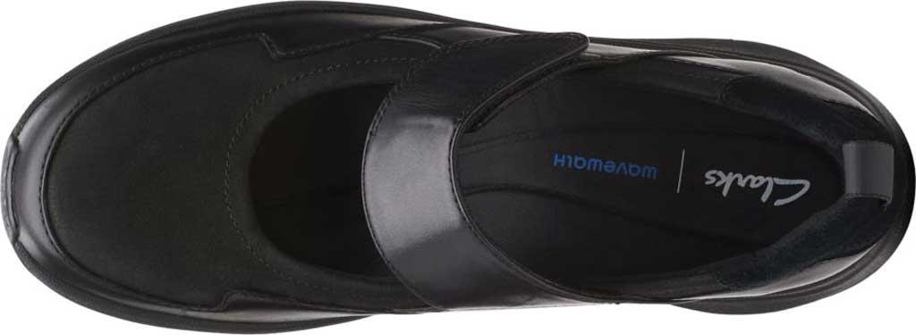 Women's Clarks Wave2.0 Glide. Mary Jane, Black Combination Nubuck/Leather, large, image 6