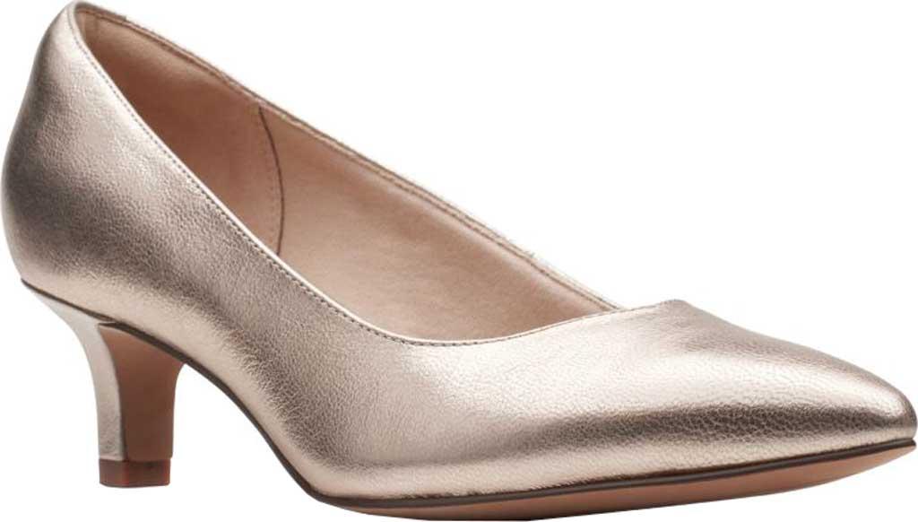 Women's Clarks Shondrah Ruby Pump, Metallic Leather, large, image 1