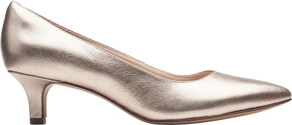 Women's Clarks Shondrah Ruby Pump, Metallic Leather, large, image 2