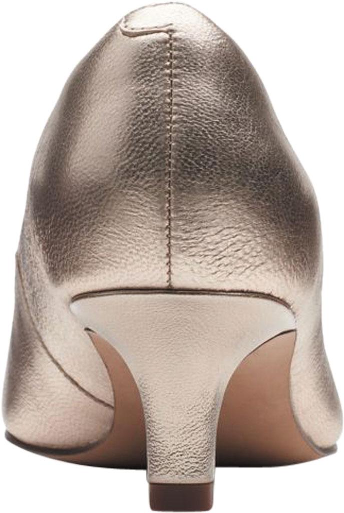 Women's Clarks Shondrah Ruby Pump, Metallic Leather, large, image 4