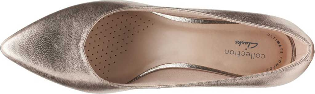Women's Clarks Shondrah Ruby Pump, Metallic Leather, large, image 5