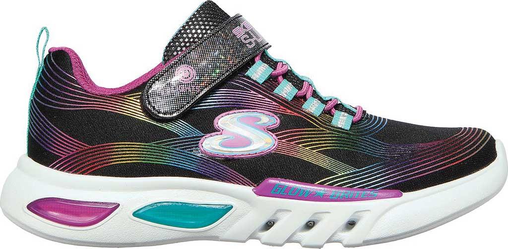 Girls' Skechers S Lights GlowBrites Sneaker, Black/Multi, large, image 2