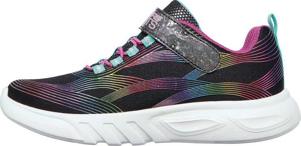 Girls' Skechers S Lights GlowBrites Sneaker, Black/Multi, large, image 3
