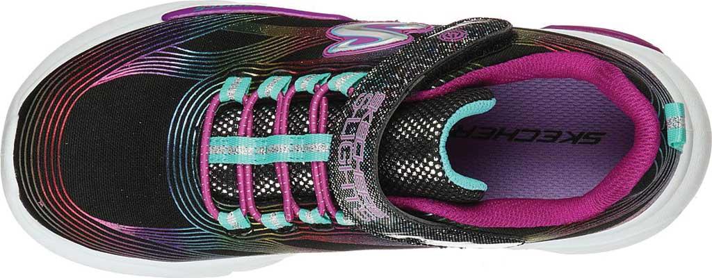 Girls' Skechers S Lights GlowBrites Sneaker, Black/Multi, large, image 4