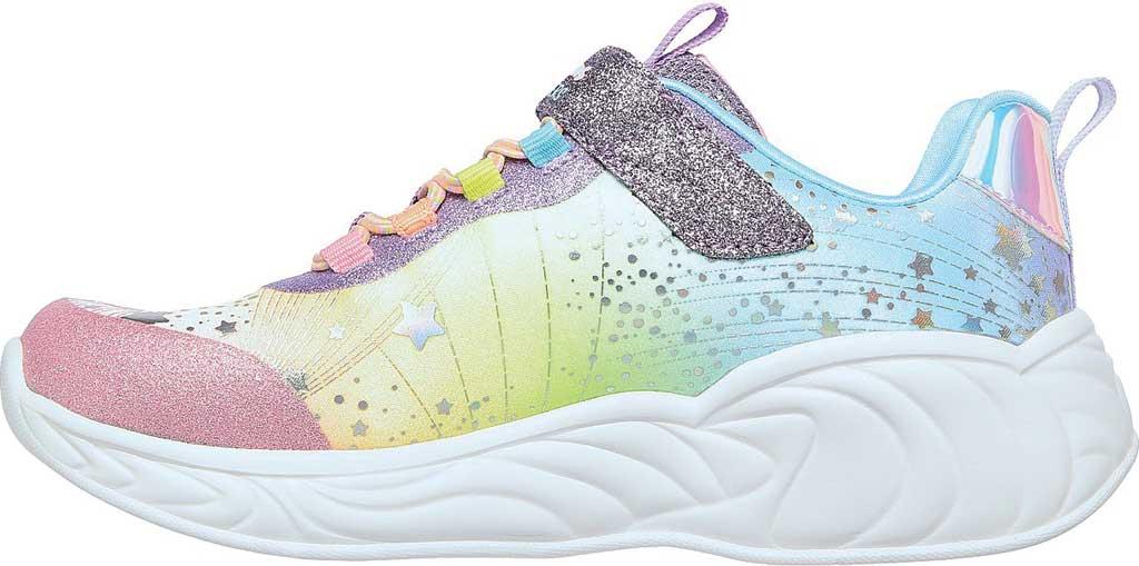 Girls' Skechers S-Lights: Unicorn Dreams, Purple/Multi, large, image 3