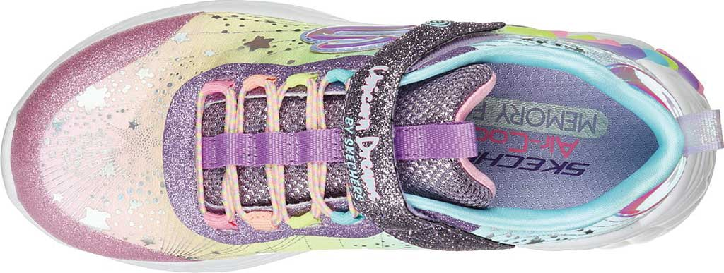 Girls' Skechers S-Lights: Unicorn Dreams, Purple/Multi, large, image 4