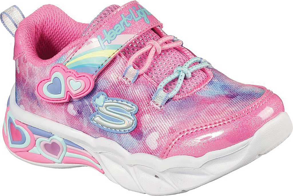 Infant Girls' Skechers Sweetheart Lights - Lovely Dreams, Pink/Lavender, large, image 1