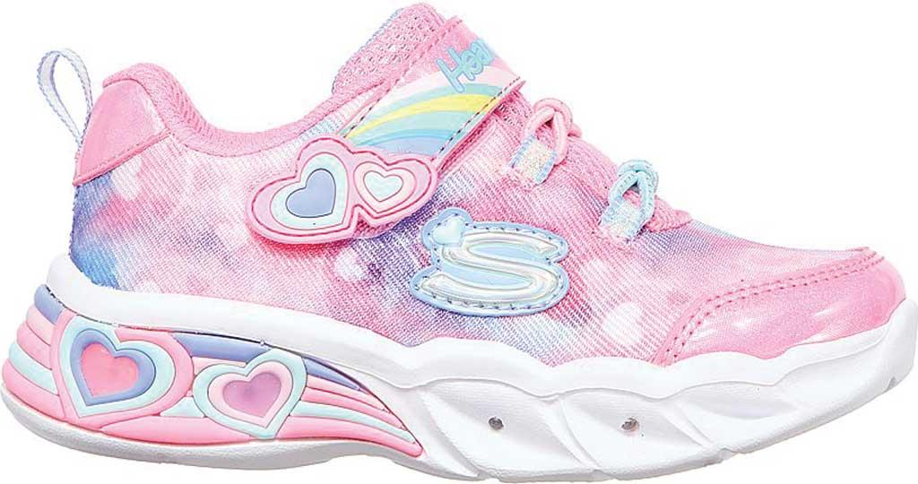 Infant Girls' Skechers Sweetheart Lights - Lovely Dreams, Pink/Lavender, large, image 2