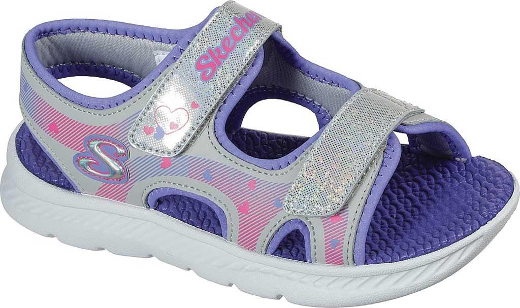 Girls' Skechers C-Flex Sandal 2.0 Lovely Summer Strappy Sandal, Silver/Lavender, large, image 1
