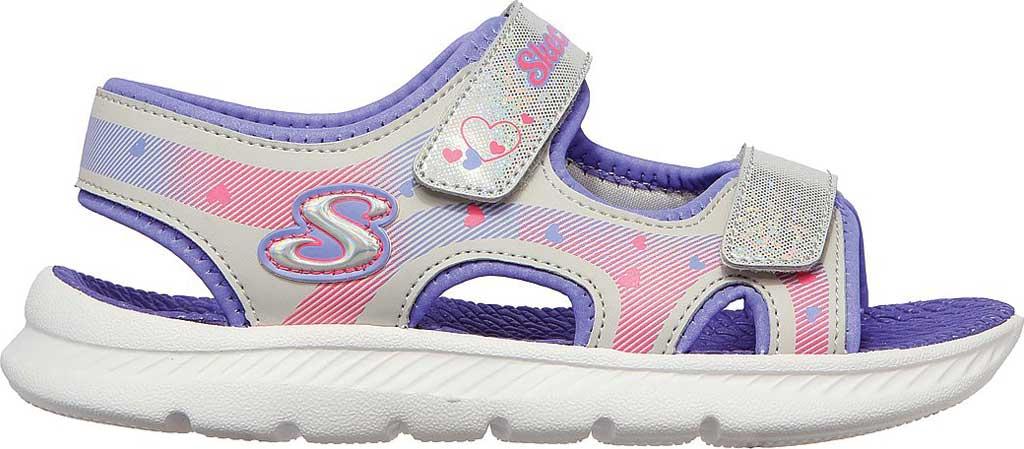 Girls' Skechers C-Flex Sandal 2.0 Lovely Summer Strappy Sandal, Silver/Lavender, large, image 2