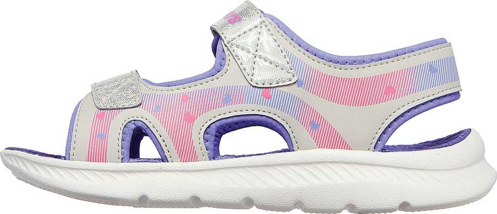Girls' Skechers C-Flex Sandal 2.0 Lovely Summer Strappy Sandal, Silver/Lavender, large, image 3