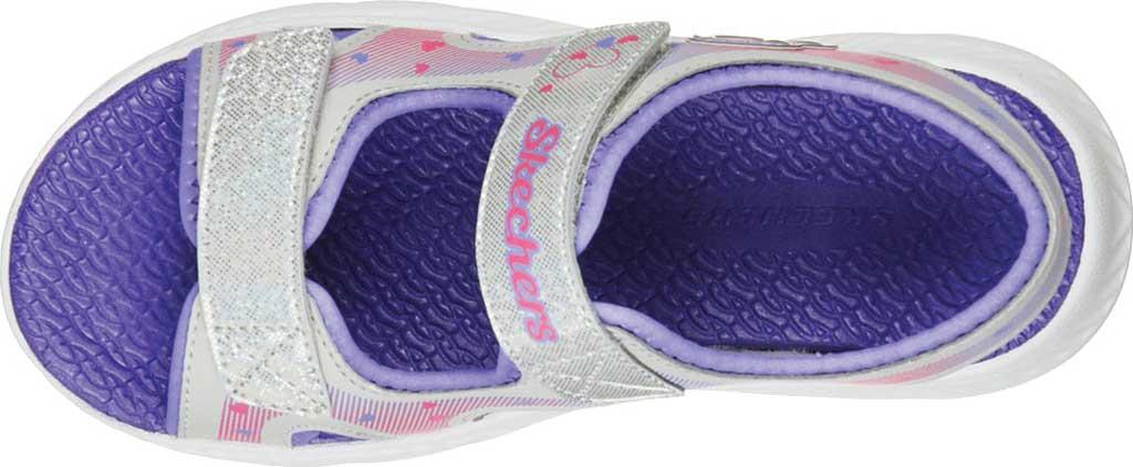 Girls' Skechers C-Flex Sandal 2.0 Lovely Summer Strappy Sandal, Silver/Lavender, large, image 5