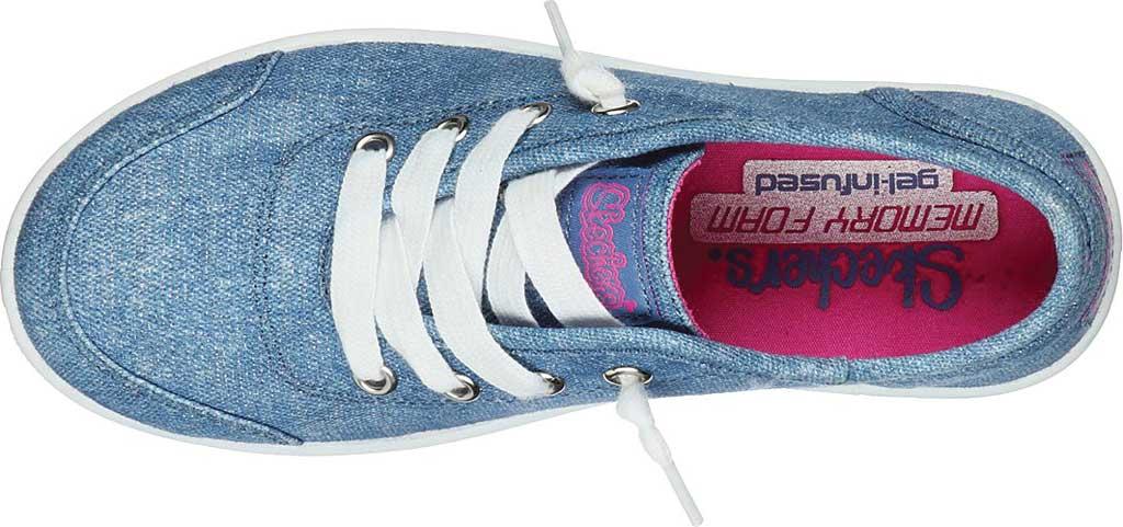 Girls' Skechers BOBS B Cute Love Everything Slip On Sneaker, Blue, large, image 4