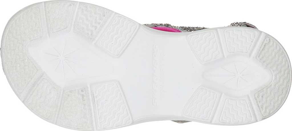 Girls' Skechers Glimmer Kicks Glittery Glam Strappy Sandal, Silver/Hot Pink, large, image 5