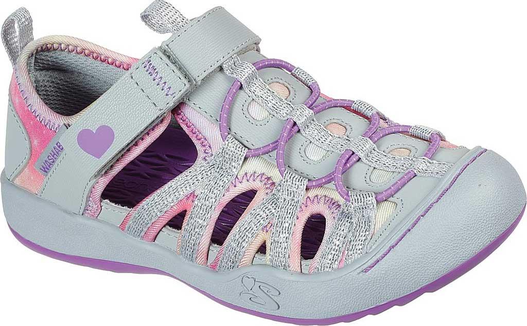Girls' Skechers Summer Steps 2.0 Endless Fisherman Sandal, Gray/Lavender, large, image 1