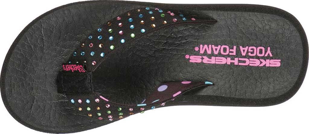 Girls' Skechers Asana Dazzling Day Thong Sandal, Black, large, image 4