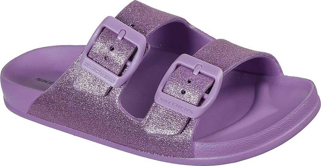 Girls' Skechers Foamies Cali Blast Summer Sparkles Slide, Lavender, large, image 1