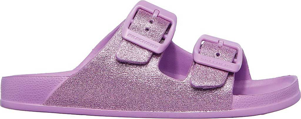 Girls' Skechers Foamies Cali Blast Summer Sparkles Slide, Lavender, large, image 2