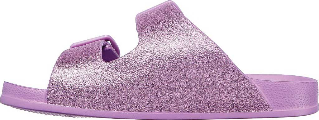 Girls' Skechers Foamies Cali Blast Summer Sparkles Slide, Lavender, large, image 3