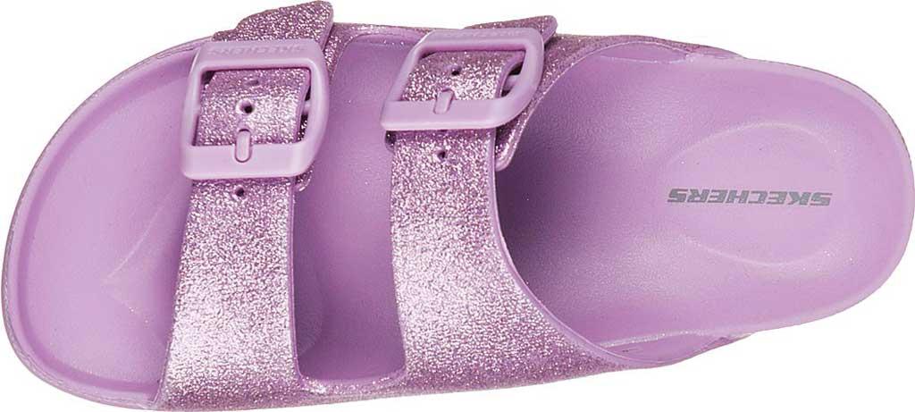 Girls' Skechers Foamies Cali Blast Summer Sparkles Slide, Lavender, large, image 5
