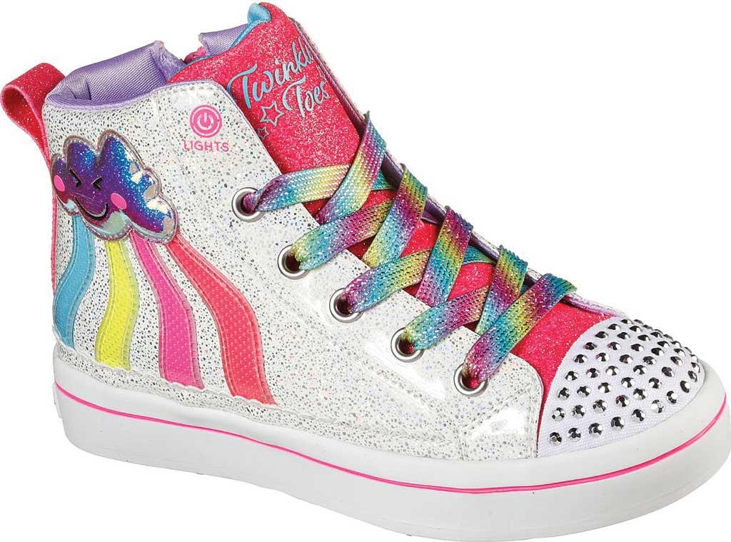Girls' Skechers Twinkle Toes: Twi-Lites 2.0 - Seeing Rainbows, White/Multi, large, image 1