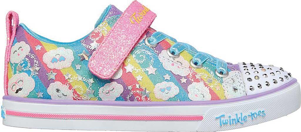 Girls' Skechers Sparkle Lite Rainbow Sparks Sneaker, Multi, large, image 2