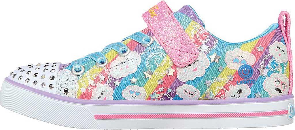 Girls' Skechers Sparkle Lite Rainbow Sparks Sneaker, Multi, large, image 3