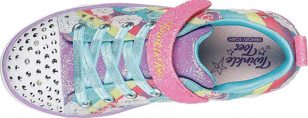 Girls' Skechers Sparkle Lite Rainbow Sparks Sneaker, Multi, large, image 5