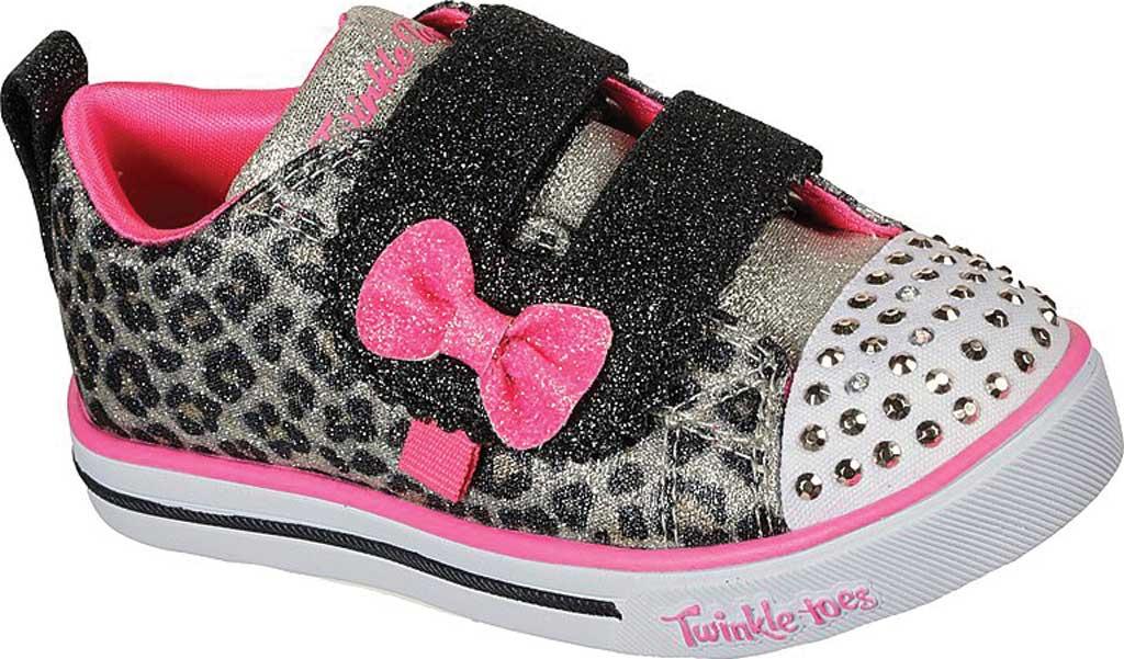 Infant Girls' Skechers Twinkle Toes: Sparkle Lite - Mini Leopards, Leopard, large, image 1