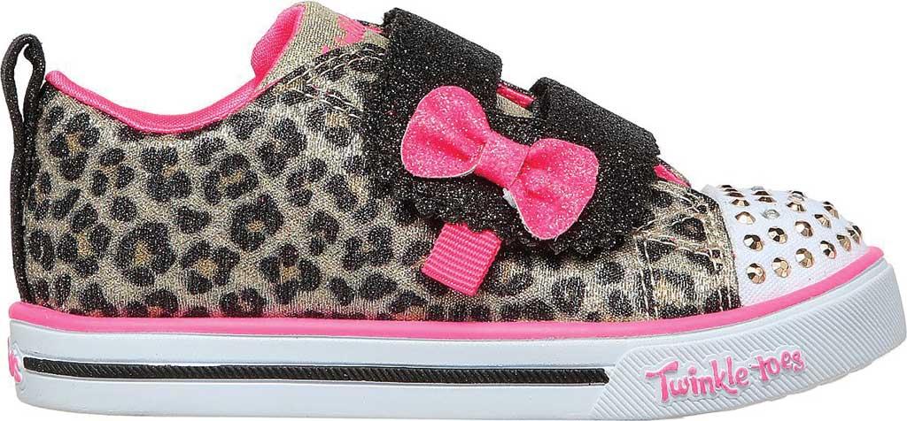 Infant Girls' Skechers Twinkle Toes: Sparkle Lite - Mini Leopards, Leopard, large, image 2