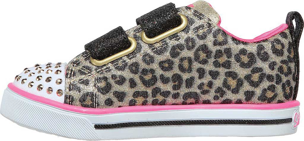 Infant Girls' Skechers Twinkle Toes: Sparkle Lite - Mini Leopards, Leopard, large, image 3