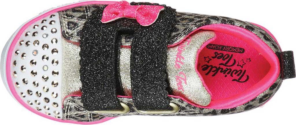 Infant Girls' Skechers Twinkle Toes: Sparkle Lite - Mini Leopards, Leopard, large, image 4