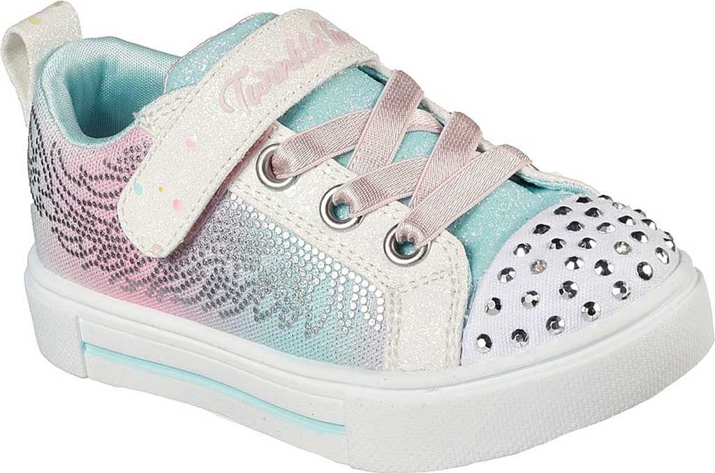 Infant Girls' Skechers Twinkle Toes: Twinkle Sparks - Winged Magic, White/Multi, large, image 1