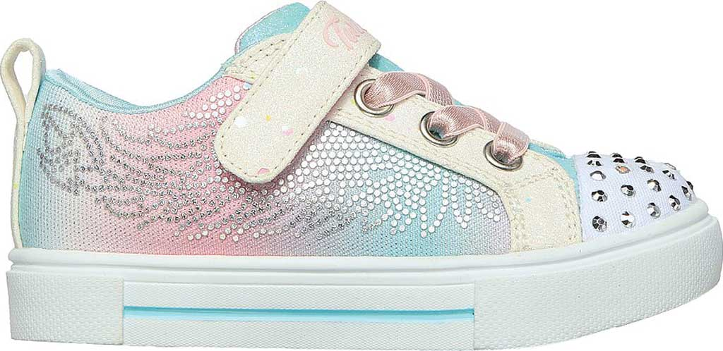 Infant Girls' Skechers Twinkle Toes: Twinkle Sparks - Winged Magic, White/Multi, large, image 2